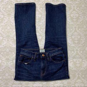 J Crew Billie Demi Boot crop jeans size 26